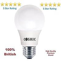 Cosmic 230V E279W lampadina a led (100W equivalente), non dimmerabile, bianco caldo satinato, A60, classe energetica a + fino A 30.000ore di durata–90% di risparmio energetico, ecologico, 2anni di garanzia