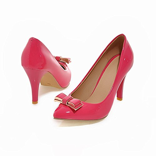 Mee Shoes Damen reizvoll spitz Lackleder Trichterabsatz Pumps Rosarot