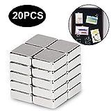 Magnete Würfel, ikalula 20 Stück Neodym Magnete Extra Stark Klein Magnete für Kühlschrank,...