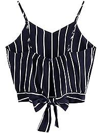 Tuopuda Crop Tops Mujer Verano Camisetas sin Mangas Halter Top Chaleco Camiseta