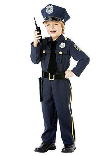 Polizei Box Kostüm - Magic Box Int. Jungen-Polizei-Offizier Kostüm Kostüm Small (4-6 Years)