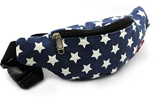 Riñonera de Moda, Bolso Bandolera de Cintura - Diseño Estrellas Retro - Ideal para Viajes, Running, Deportes, Caminar - Ligera, cómoda, práctica