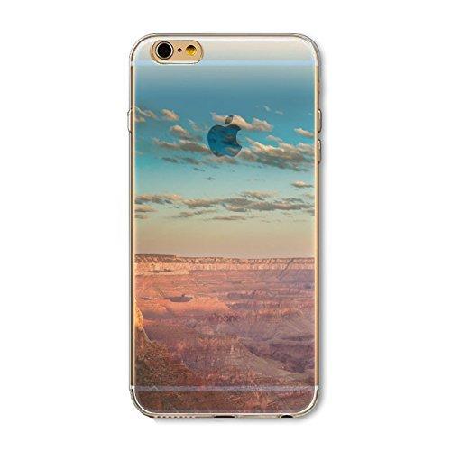 Coque iPhone 6 6s Housse étui-Case Transparent Liquid Crystal en TPU Silicone Clair,Protection Ultra Mince Premium,Coque Prime pour iPhone 6 6s-Paysage-style 9 9