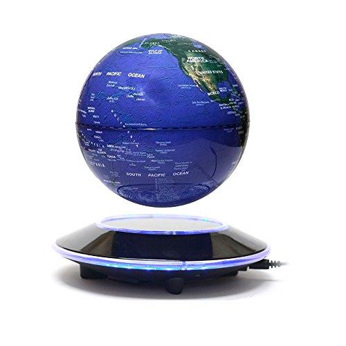 Schweben Globus, V.one Magnetisch Schweben Globe Weltkugel LED Beleuchtung Levitation Rotation Bildung Bürodekoration & Geschenk 6 Zoll - Englisch Beschriftung mit DE Netzteil