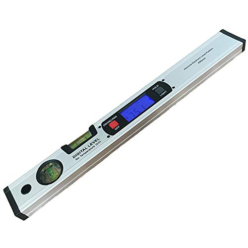 Iycorish Digital Winkelmesser Finder Neigungs Sensor Elektronische Ebene 360 ??Grad Ohne Magnete Neigungs Winkel Slope Test Lineal 400 Mm