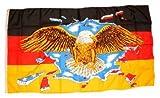 Fahne Flagge Deutschland breiter Adler NEU 90 x 150 cm