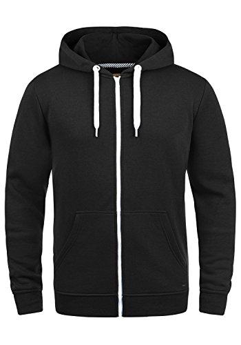 !Solid Olli Ziphood Herren Sweatjacke Kapuzenjacke Hoodie mit Kapuze Reißverschluss und Fleece-Innenseite, Größe:XL, Farbe:Black (9000)