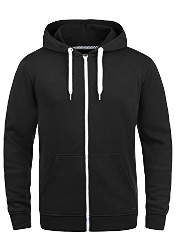 !Solid Olli ZipHood Herren Sweatjacke Kapuzenjacke Hoodie Mit Kapuze Reißverschluss Und Fleece-Innenseite, Größe:L, Farbe:Black (9000) Fleece Zip Hoody