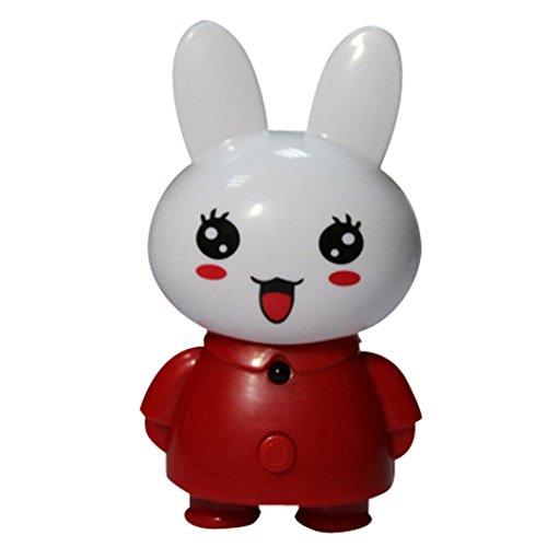Koly Creativo de la historieta del conejo remoto luz de la noche la noche del LED luz de la lámpara de noche,Blanco
