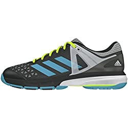 adidas Court Stabil 13, Zapatillas de Balonmano para Mujer, Negro (Grpudg / Azuvap / Ftwbla), 41 1/3 EU