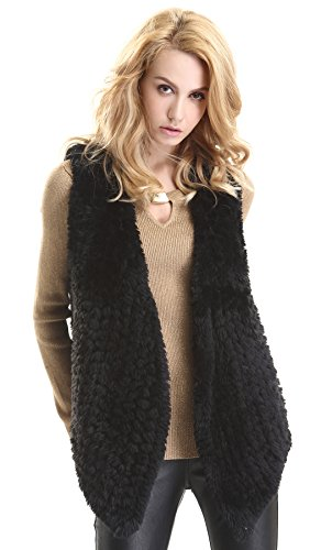 Escalier Donna Maglia Faux Fur Gilet Outwear