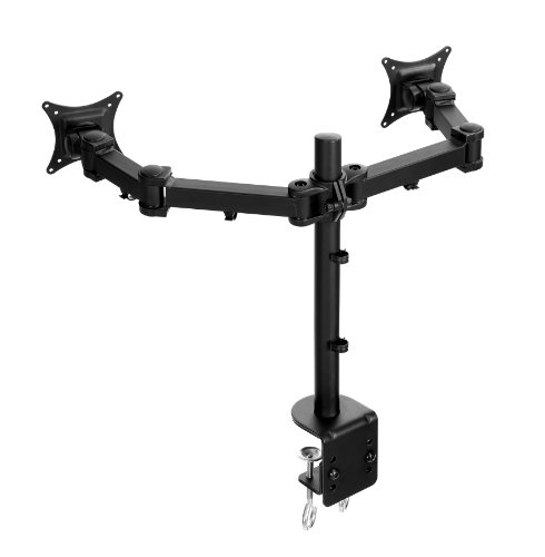 Lavolta Dual Monitor Stand - Double Desk Mount Arm Bracket for Computer PC LCD Screen TV Gaming Display 19