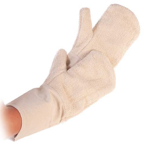 Top-Backhandschuh, Hitzeschutz-Ofen-Handschuh, Bäckerhandschuh, extra langer Stulpe 42 cm, Baumwolle, waschbar bis 40°C (Lang Ofen-handschuhe-extra)