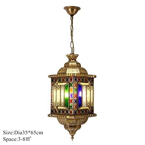 Arabien hohle geschnitzte Kupfer Retro hängende Lampen-Süd-Ost-kreative antike Bronze Laterne Hängeleuchte für Bar Cafe Fixture, SKU1 -