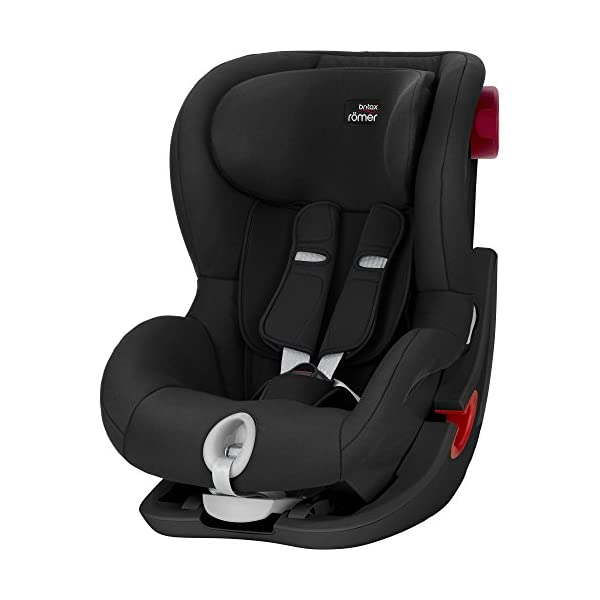 Britax Römer King II Black Series Group 1 (9-18kg) Car Seat - Cosmos Black  Easy installation - with tilting seat and patented seat belt tensioning system Optimum protection - performance chest pads, deep, padded side wings 1