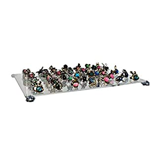 Display Stands Pack of 4 Custom Cut Extra Acrylic Shelves with Brackets to Fit Ikea Detolf Cabinet (DSA/IKx4)