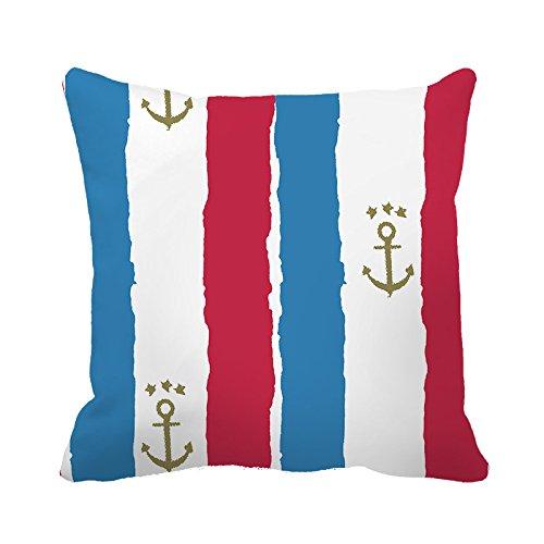warrantyll-maritim-anker-streifen-baumwolle-dekokissen-quadratisch-dekorativer-uberwurf-kissenbezug-