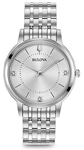 Bulova Batterien Für Uhren (Uhr Bulova Classic 96p183Quarz (Batterie) Stahl Quandrante Silber Armband Stahl)