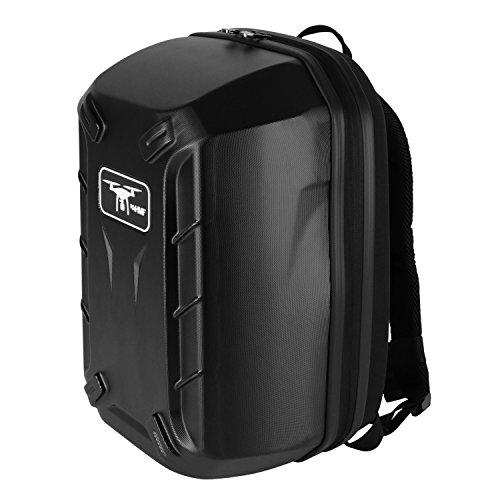 HMF 18608-02 Rucksack Hartschale, Transporttasche passend DJI Phantom 2 und 3 Standard, Professional, Advanced Drohne, 42 x 39 x 28 cm, schwarz - 6
