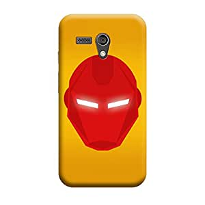 Iron Man Mask Premium Quality Designer Cases For Moto X Style Matte Finish Hard Case Mobile Back Cover With Full Protection