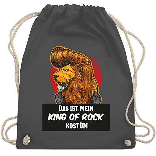 Karneval & Fasching - Das ist mein King of Rock Kostüm - Unisize - Dunkelgrau - WM110 - Turnbeutel & Gym ()
