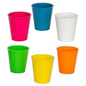 Tick Set 6 Bicchieri Jump - in policarbonato riutilizzabile - indistruttibili - capacità 35 cl