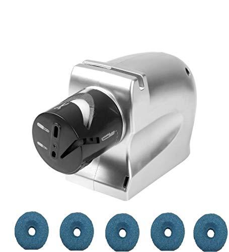 WANGZHENG Elektrischer Messerschärfer Hochgeschwindigkeits Schärfwerkzeug Rotierender Schärfstein Motorisiertes Schärfwerkzeug Für Küchenmesser