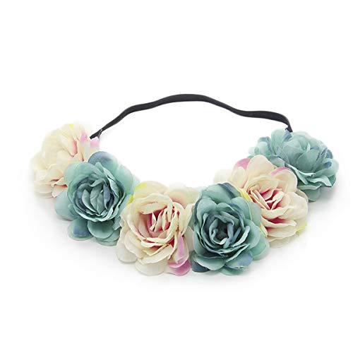 Miaoo - Diadema de flores para boda, fiesta, festival, accesorios para