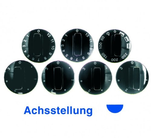 Knebel(BO)Set 7teilig schwarz, für Herde mit max. 5 Knebeln