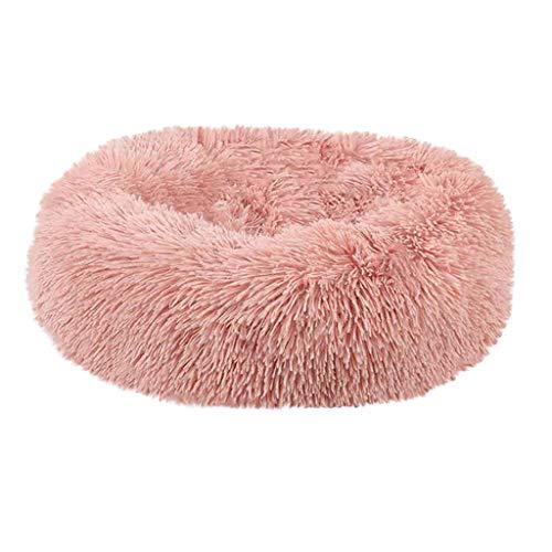 TWISFER Hundebett Katzenbett rutschfeste Unterseite Runde Form Weiches Haustierbett Waschbar Fell-Donut Design Verschiedene Größen Flauschig Hundekissen Hundesofa