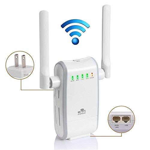 300Mbps Wireless Router /Extensor Enrutador Inalámbrico de Red /WiFi Mini Wireless Extensor de Rango AP Amplificador /Full Coverage Route Repetidor Booster Wireless-N 2.4GHz Universal EU Enchufe WPS Universal-travel-mobile