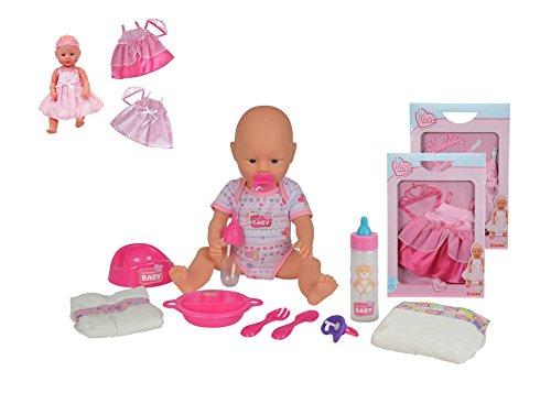 New Born Baby Babypuppe Set Puppe mit Zubehör Töpfchen Trink und Nässefunktion