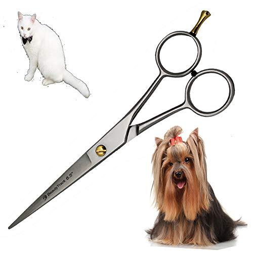Ciseaux de coiffeur professionnel - Extra long 6.5 Ciseaux Coiffeur - Rose Couleur - Compatible avec poils de chien de chat & de plus