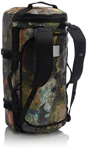 North Face Base Camp Duffel Backpack – Brown/Sepia Brown Hiker Print, One Size/Medium