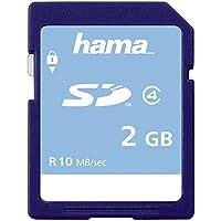 Hama Speicherkarte SDHC 2GB (SD-2.0 Standard, Class 4, Mechanischer Schreibschutz, Beschriftungsfeld)