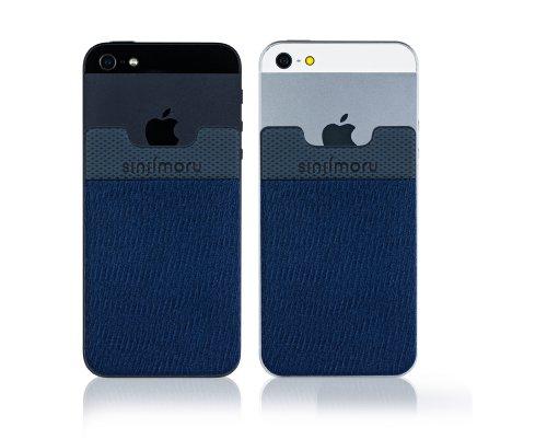 SinjiPouch Ultra-Slim iPhone 5/Galaxy S4/Optimus G Pro/Smartphone/Smart Pocket [Universal-Fit, Marineblau] (Case G Lg Gummi Pro Optimus)