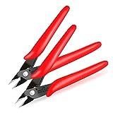 Boenfu Cable Wire Cutter Mini Cutting Pinza diagonale taglierina laterale Flush Cutter Gioielli Craft Flush Pinze - Confezione da 2, rosso