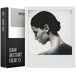 Impossible - 4516 - Nouveau : pellicule N&B pour Appareil Polaroid type P600 - cadre blanc - 8 feuilles par boîte