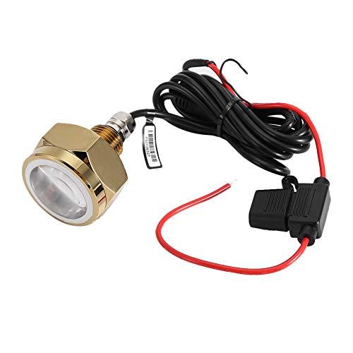 Riuty Unterwasserfischerboote Licht, 27W DC11V-28V Blue Marine Tauch LED-Lampe Tauch Angeln Licht für Boot Schiff (Boot Lichter Angeln)