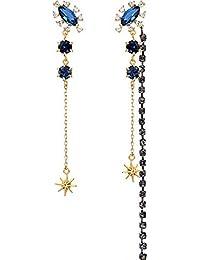 d948395277c3 ZRDMN Pendientes de botón Joyería Dangler para mujer Estrella de moda  Diamante Pendientes largos de borla