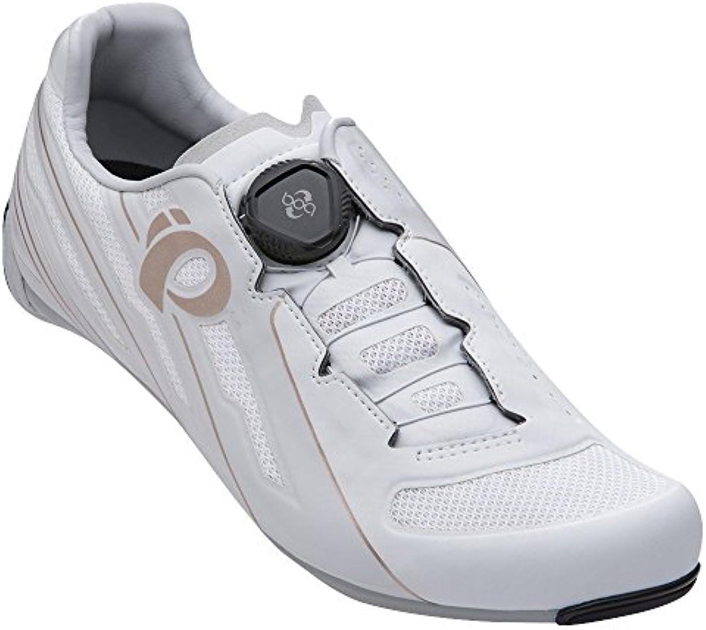Pearl Izumi Race Road V5 Zapatillas Ciclismo, Mujer, Blanco/Gris, 38