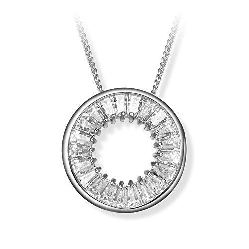 Prime Day Sale FANCYDELI Geschenke Kristall Modeschmuck Damen Mädchen Kreis Halskette mit...