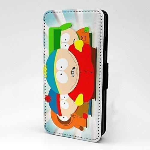 Accessories4Life Animierter Cartoon Bedruckte Vorne Kunstleder Blumenmuster Flip Case Hülle mit Kartenschlitze & Magnetisch Schließen Verschluss für Apple IPHONE 5C - South Park - S-T0186