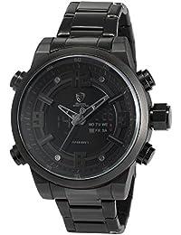 Shark SH343 - Reloj Hombre Cuarzo, Correa de Acero Inoxidable Negro,