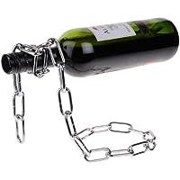 Golden Seeds Argent Chaîne Porte Bouteille de vin Titulaire Wine Bottle Holder Magique Lasso