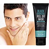 Charcoal Face Mask Peel Off Blackhead for Men and Women- Activated Bamboo Charcoal Mask Cream- 60 ml - by Paper Plane Design