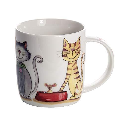 SPOTTED DOG GIFT COMPANY Taza de Cerámica, Taza de Gato para Té Café, Regalo para los Amantes del Gatos e Animales