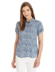 Levis Womens Body Blouse Shirt (23887-0011_Blue_M)