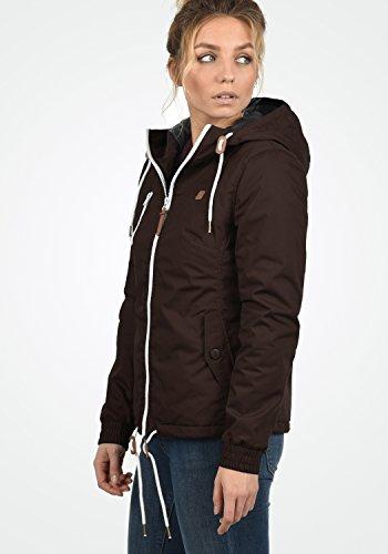DESIRES Tilda Damen Übergangsjacke Jacke gefüttert mit Kapuze, Größe:XS, Farbe:Coffee Bean (5973) - 3