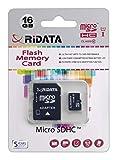 Ridata MicroSDHC Card 16GB Class10 U1 with Adaptor